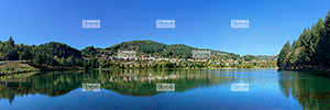 Europe, France, Massif Central, RŽgion Auvergne-Rh™ne-Alpes, 07 - Ard�che, le village de Saint Martial et son lac