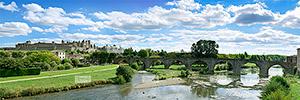 Europe, France, rŽgion Occitanie, 11 - Aude, la CitŽ de Carcassonne et le Pont-Vieux traversant l'Aude
