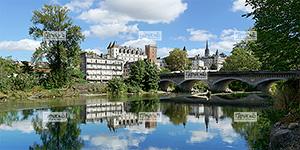 Europe, France, BŽarn, rŽgion Nouvelle Aquitaine, 64 - PyrŽnŽes-Atlantiques , le gave de Pau et la ville de Pau